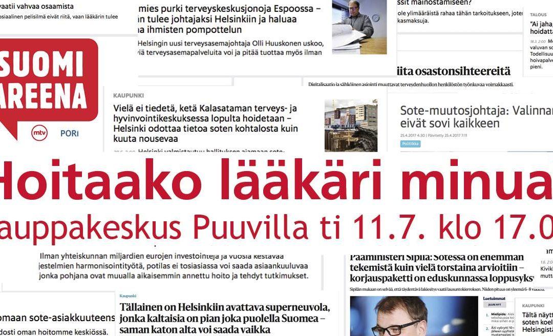 SuomiAreena: Hoitaako lääkäri minua? -tallenne