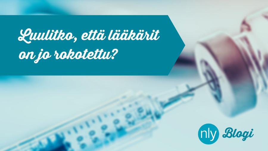Luulitko, että lääkärit on jo rokotettu?
